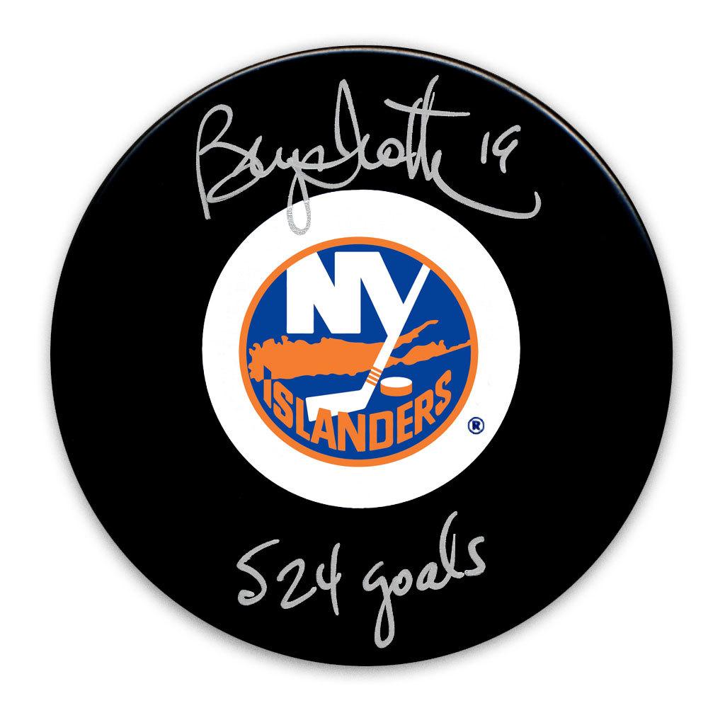 Bryan Trottier New York Islanders 524 Goals Autographed Puck