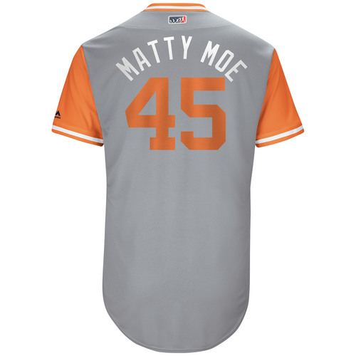 "Photo of Matt ""Matty Moe"" Moore Game-Used Players Weekend Jersey"