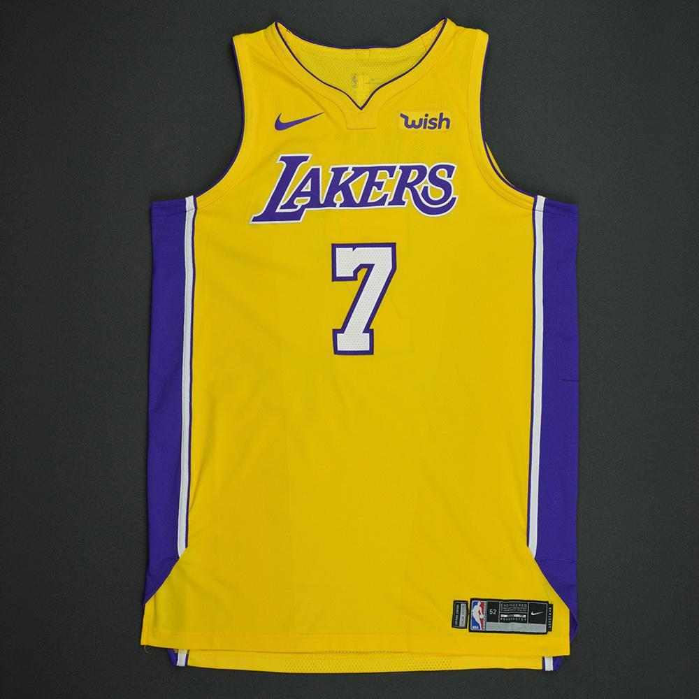 Larry Nance Jr - Los Angeles Lakers - Kia NBA Tip-Off 2017 - Game-Worn Jersey - Worn in 3 Games - Double-Double