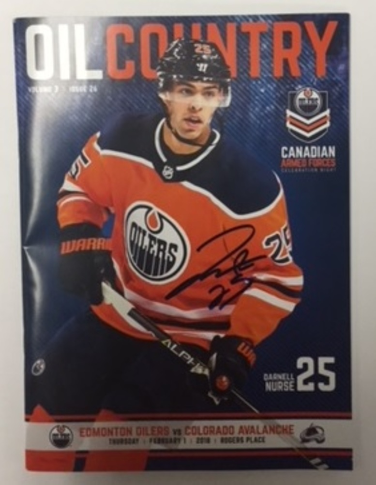 Darnell Nurse - February 1st,2018 Edmonton Oilers Game Day Program