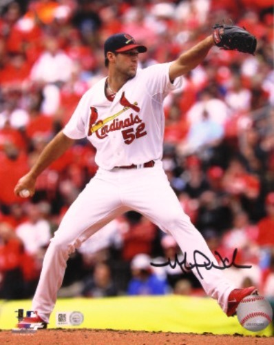 Michael Wacha Autographed Delivery Vertical 16x20