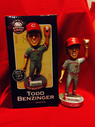 Photo of Reds Hall of Fame: Todd Benzinger Autographed Bobblehead