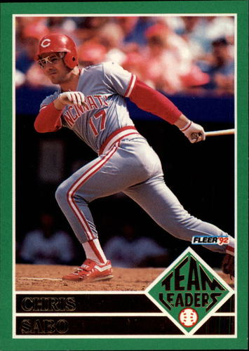 Photo of 1992 Fleer Team Leaders #3 Chris Sabo UER