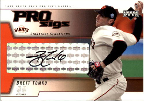 Photo of 2005 Upper Deck Pro Sigs Signature Sensations #BT Brett Tomko T3