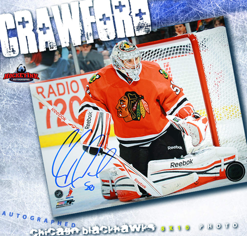 COREY CRAWFORD Signed Chicago Blackhawks 8 X 10 Photo - 70446