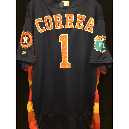 Photo of Team-Issued 2016 Carlos Correa Spring Training Jersey