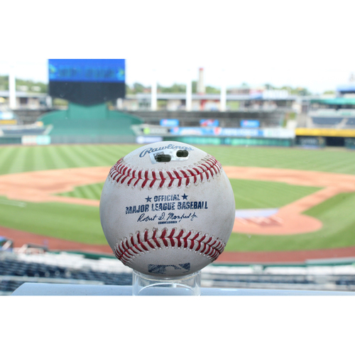 Photo of Game-Used Jason Castro RBI Double (7/1/17 DET at KC)