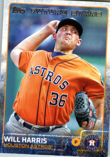 Photo of 2015 Topps Update #US319 Will Harris Rookie Card -- Astros post-season