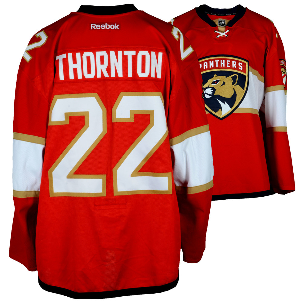 Shawn Thornton Florida Panthers Player-Issued #22 Red Jersey From The 2016-17 NHL Season - Size 58