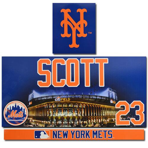 Photo of Dick Scott #23 - Game Used Locker Nameplate Set - 2017 Season
