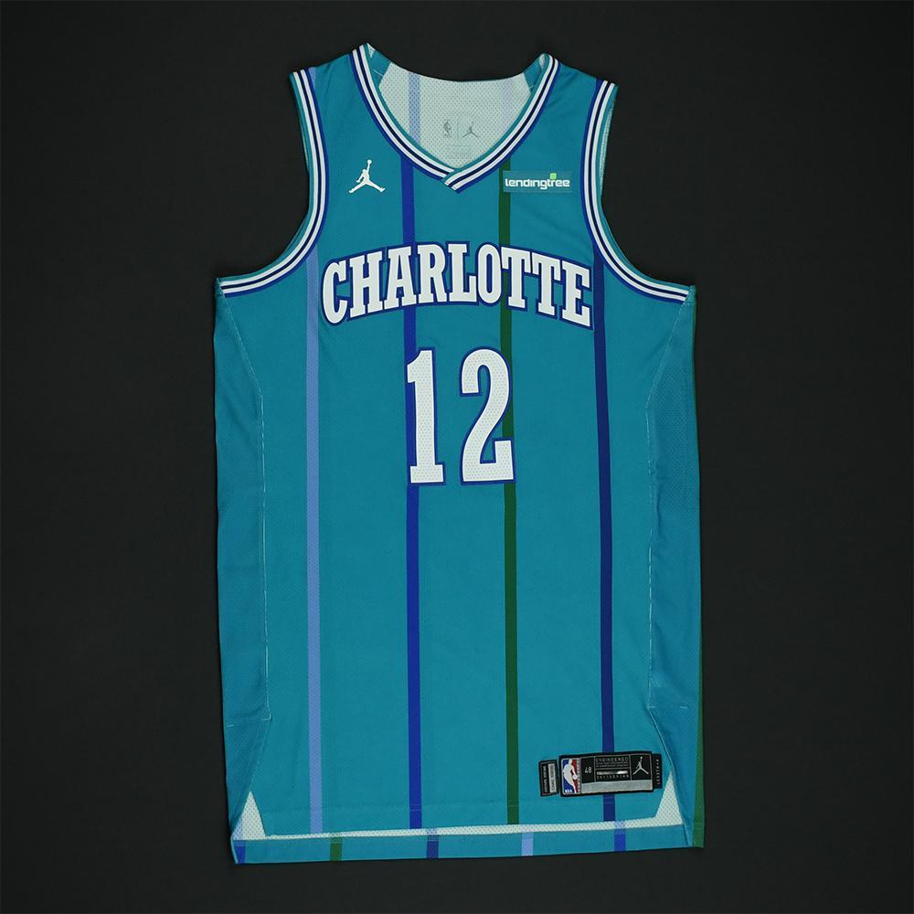 Dwight Howard - Charlotte Hornets - Game-Worn Classic Edition 1988-97 Road Style Jersey -2017-18 Season - Double-Double