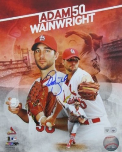 Adam Wainwright Autographed 8x10 Collage Photograph
