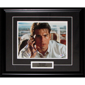 Tom Cruise Autographed 8X10 Framed Photo as Jerry Maguire - Show Me the Money!!!