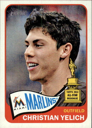 Photo of 2014 Topps Heritage #268 Christian Yelich
