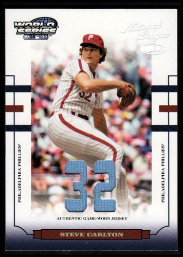 Photo of 2004 Donruss World Series Material Fabric Number #142 Steve Carlton Jsy/32