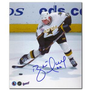 Brett Hull Dallas Stars SLAPSHOT Autographed 8x10