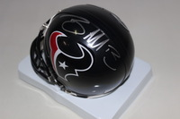 NFL - TEXANS BRAXTON MILLER SIGNED TEXANS MINI HELMET