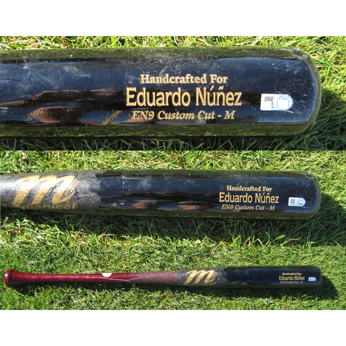 Photo of San Francisco Giants - Game Used Broken Bat - Spring Training - Eduardo Nunez against Scott Kazmir