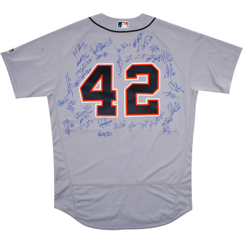 Photo of 2017 Jackie Robinson Day Jersey - Detroit Tigers Team Autographed Jersey