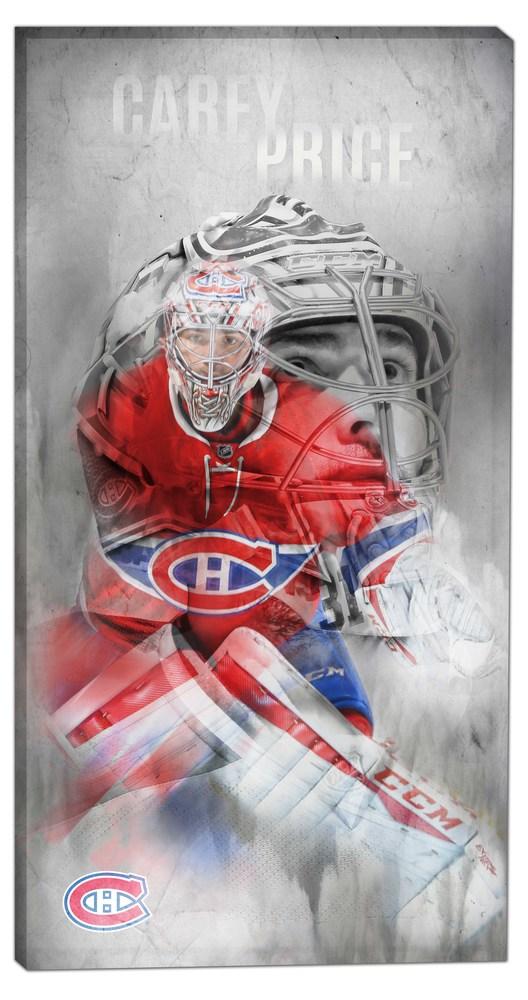 Carey Price - 14x28 Canvas Double-Exposure Canadiens