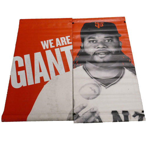 Photo of San Francisco Giants - 2016 Vinyl Street Banner - Johnny Cueto