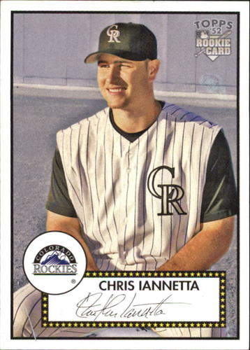 Photo of 2006 Topps 52 #204 Chris Iannetta Rookie Card -- D'backs post-season