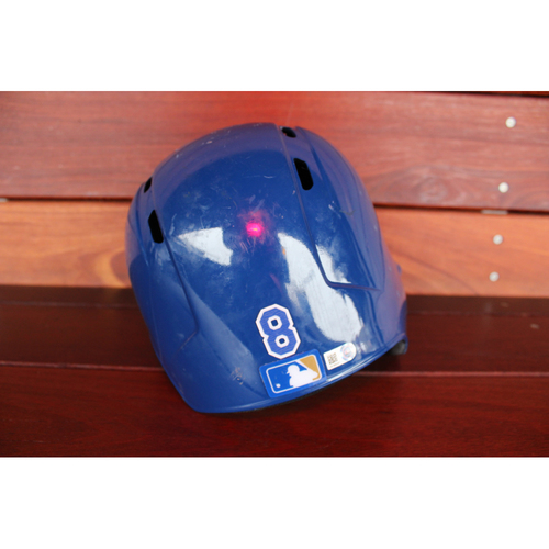 Photo of Game-Used Helmet: Mike Moustakas (Size 7 1/2 - ARI at KC - 10/1/17)