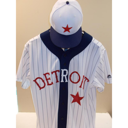 Photo of Ed Hodge Detroit Stars Jersey and Game-Used Cap