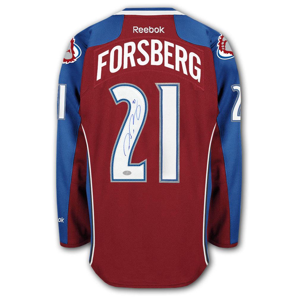Peter Forsberg Colorado Avalanche RBK Premier Autographed Jersey