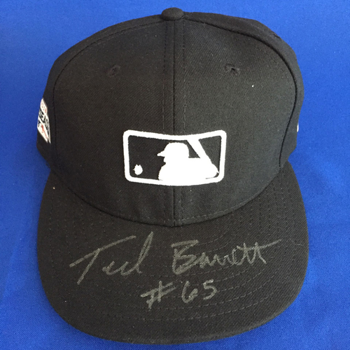 Photo of UMPS CARE AUCTION: Ted Barrett Signed MLB Hat Size 7 1/8