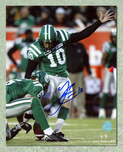 Luca Congi Saskatchewan Roughriders Autographed 8x10 Photo