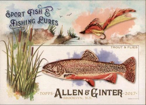 Photo of 2017 Topps Allen and Ginter Sport Fish and Fishing Lures #SFL7 Trout