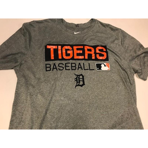 Team-Issued Justin Verlander Grey Dri-Fit T-Shirt