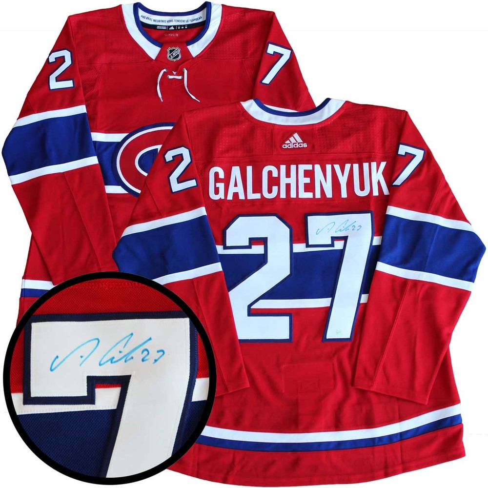Alex Galchenyuk - Signed Jersey Pro Adidas Canadiens Red 17-18