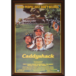 Chevy Chase Framed Autographed Movie Poster - Caddyshack