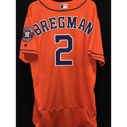 Photo of Team-Issued 2016 Alex Bregman Orange Alternate Jersey