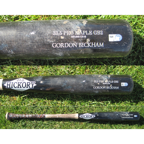 Photo of San Francisco Giants - Team Issued Broken Bat - Spring Training - Gordon Beckham - 2/25/17