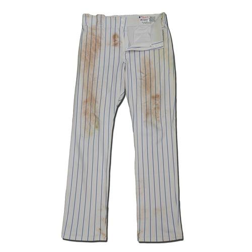 Photo of Matt Reynolds #15 - Game Used White Pinstripe Pants - Mets vs. Braves - 9/27/17