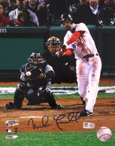 Photo of Mike Lowell Autographed '07 World Series 8x10