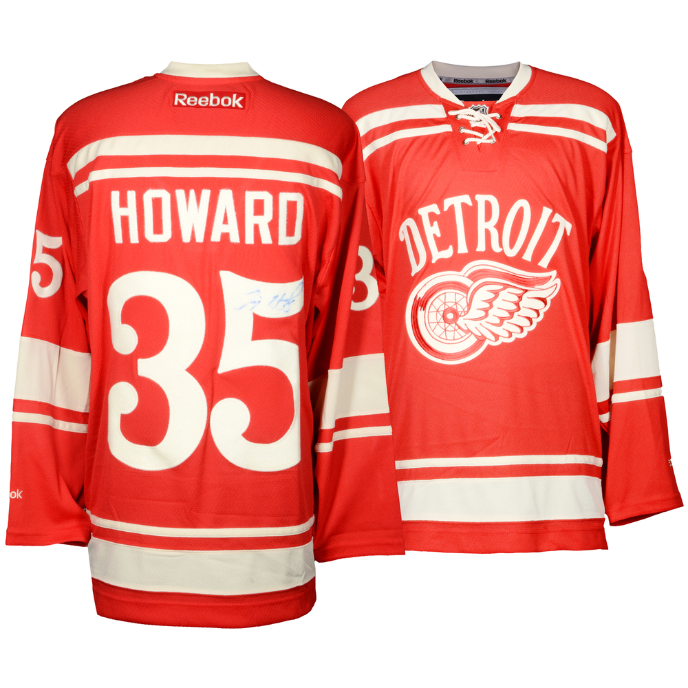 Jimmy Howard Detroit Red Wings Autographed Winter Classic Reebok Home Jersey