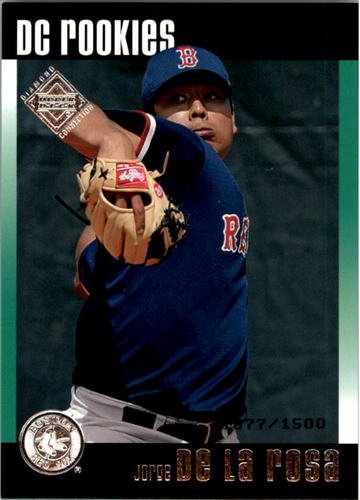 Photo of 2002 Upper Deck Diamond Connection #181 Jorge de la Rosa DC RC