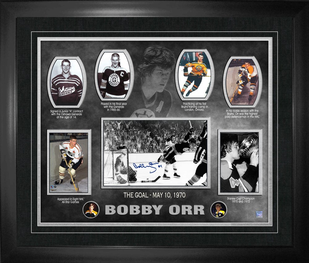 Bobby Orr - Signed & Framed 16x20