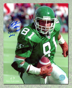 Ray Elgaard Saskatchewan Roughriders Autographed CFL Football 8x10 Photo
