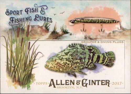 Photo of 2017 Topps Allen and Ginter Sport Fish and Fishing Lures #SFL12 Grouper