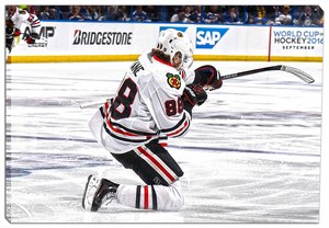 Patrick Kane - 20x29 Chicago Blackhawks Celebration Canvas - 2016 Stanley Cup Playoffs