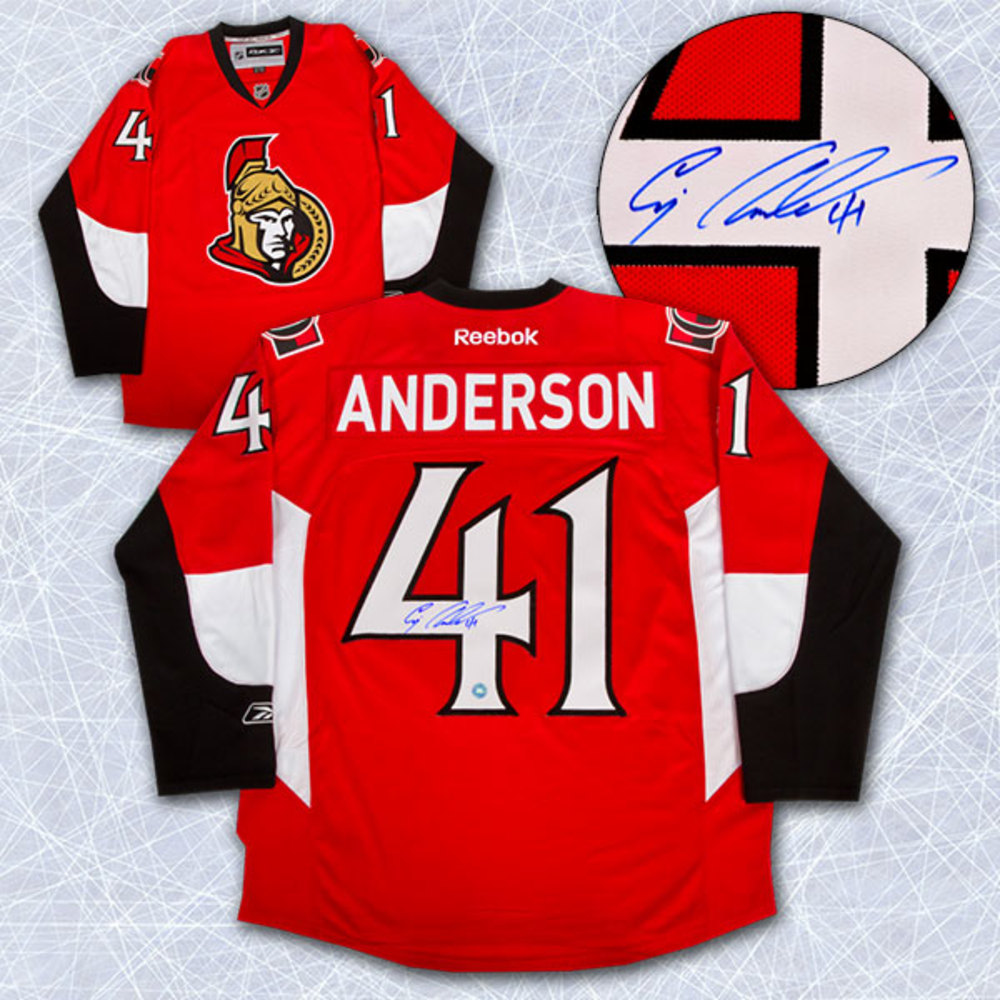 Craig Anderson Ottawa Senators Autographed Reebok Premier Hockey Jersey