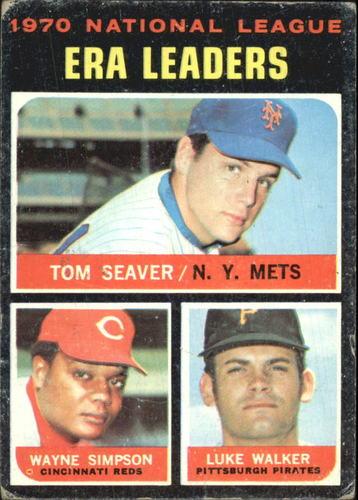 Photo of 1971 Topps #68 NL ERA Leaders/Tom Seaver/Wayne Simpson/Luke Walker