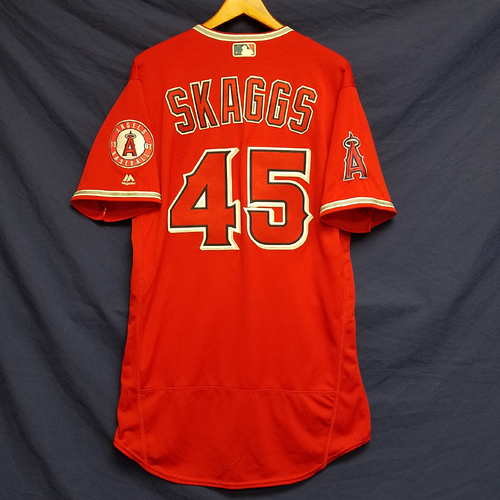 Photo of Tyler Skaggs 2016 Season Team-Issued Alternate Red Jersey