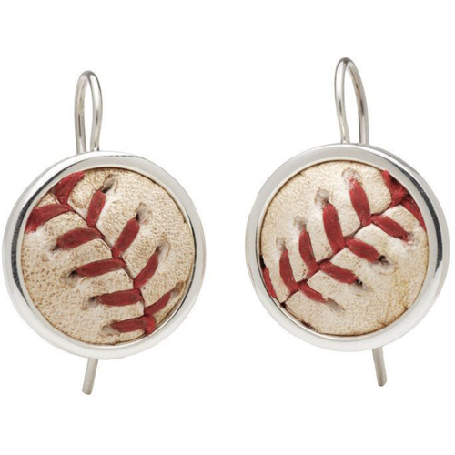 Photo of Cardinals Authentics: St. Louis Cardinals Game-Used Baseball Earrings
