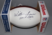 HOF - CHIEFS WILLIE LANIER SIGNED AUTHENTIC FOOTBALL